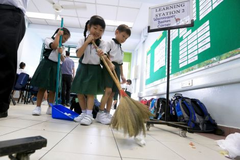 students-cleaning